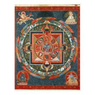 Postal Mandala budista tibetana de la deidad de Hevajra