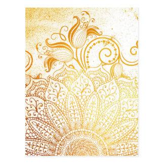 Postal Mandala - cepillo de oro
