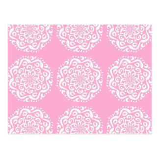 Postal Mandala color de rosa