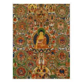 Postal Mandala completa pintada Bhutanese
