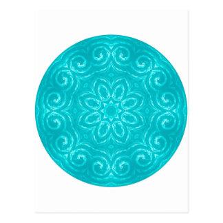 Postal Mandala de la energía - aguamarina