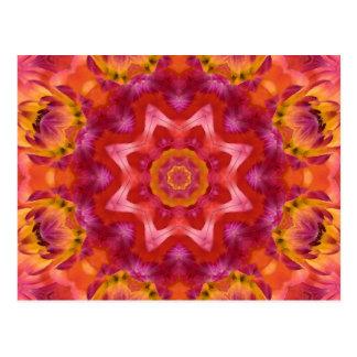 Postal Mandala de la flor