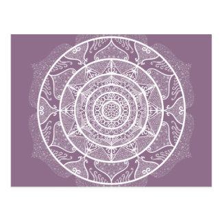 Postal Mandala de las glicinias