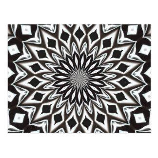 Postal Mandala decorativa blanco y negro