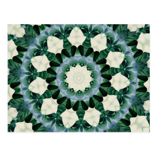 Postal Mandala del azul verde y cerúleo de Sacramento