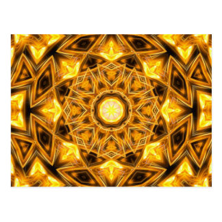 Postal Mandala líquida del oro