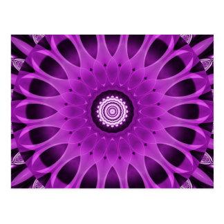 Postal Mandala rosada y púrpura creada por Tutti