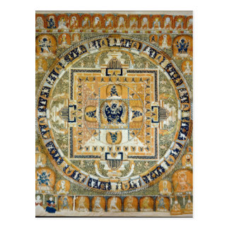 Postal Mandala tibetana de la deidad de Yamantaka