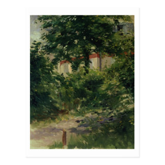 Postal Manet el | una esquina del jardín en Rueil, 1882