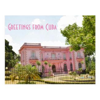 Postal Mansión rosada de Cuba