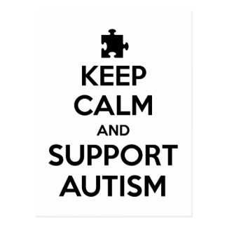 Postal Mantenga autismo tranquilo y de la ayuda