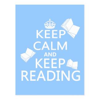 Postal Mantenga tranquilo y guarde el leer