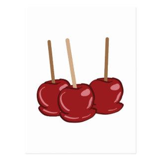 Postal Manzanas de caramelo