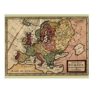 Postal Mapa 1721 de Europa