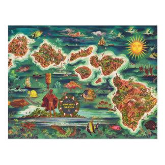 Postal Mapa 1950 de Dole de la pintura de aceite de