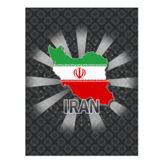 Postal Mapa 2,0 de la bandera de Irán