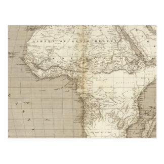 Postal Mapa 2 de África