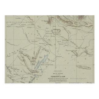 Postal Mapa antiguo de Irán