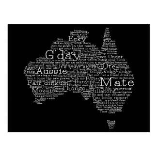 Postal Mapa australiano del argot
