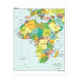 Postal Mapa continente de África