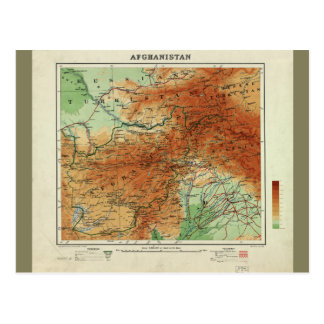 Postal Mapa de Afganistán (1912)