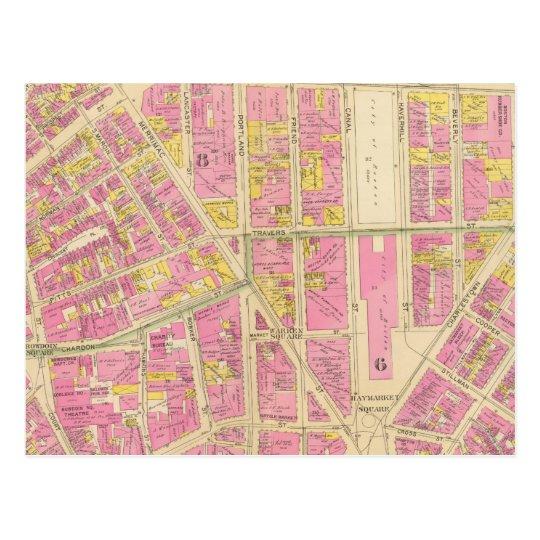 Postal Mapa de Boston 28
