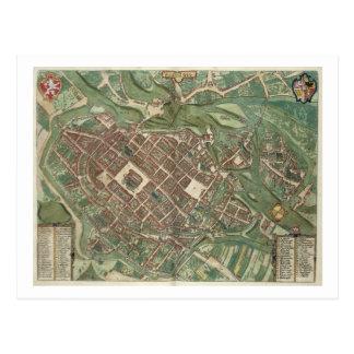 Postal Mapa de Bratislava, de 'Civitates Orbis Terrarum