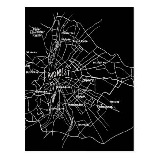 Postal Mapa de Budapest Hungría