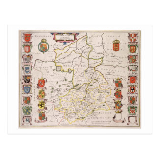 Postal Mapa de Cambridgeshire, Amsterdam publicada