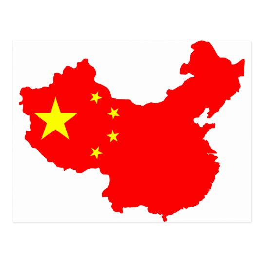Postal Mapa de China
