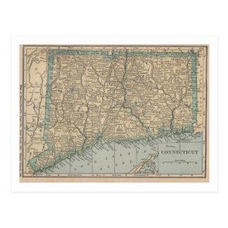 Postal Mapa de Connecticut