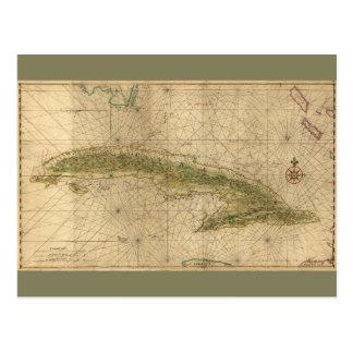 Postal Mapa de Cuba (1639)