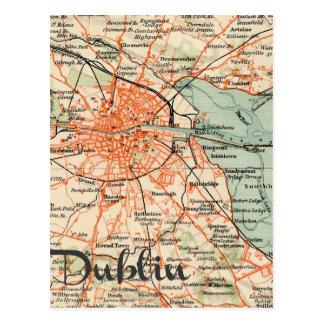 Postal Mapa de Dublín