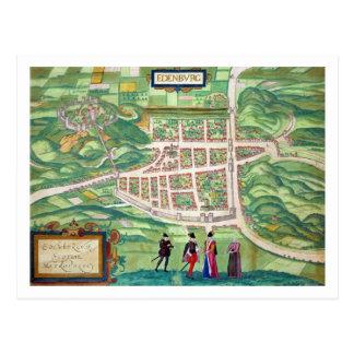 Postal Mapa de Edimburgo, de 'Civitates Orbis Terrarum