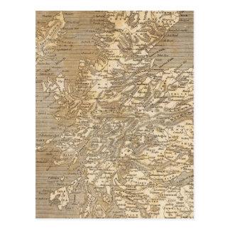 Postal Mapa de Escocia por Arrowsmith
