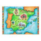 Postal Mapa de España