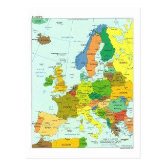 Postal Mapa de Europa