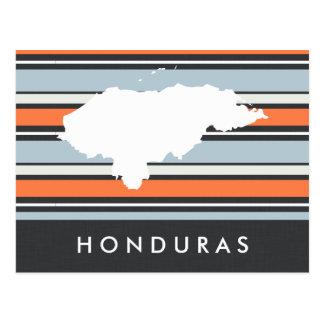 Postal Mapa de Honduras: Rayas modernas