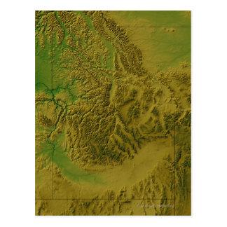 Postal Mapa de Idaho