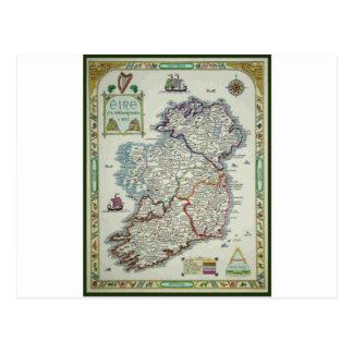Postal Mapa de Irlanda - mapa histórico de Eire Erin del
