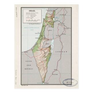 Postal Mapa de Israel (1967)