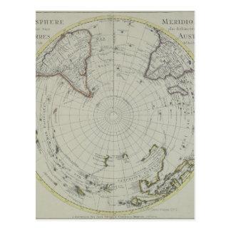 Postal Mapa de la Antártida 2