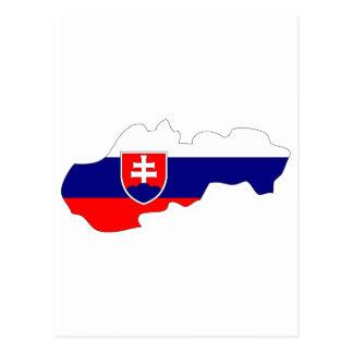 Postal Mapa de la bandera de Eslovaquia