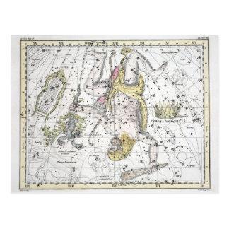 Postal Mapa de la placa VIII de las constelaciones