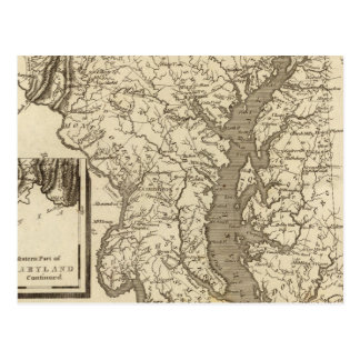 Postal Mapa de Maryland por Arrowsmith