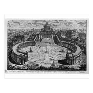 Postal Mapa de Roma y del campus Martius