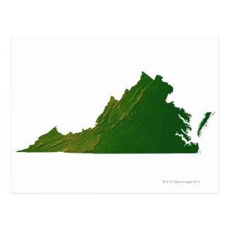 Postal Mapa de Virginia