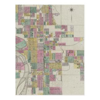 Postal Mapa de Wichita, Kansas