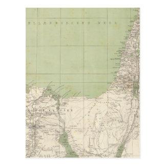 Postal Mapa del atlas de Sinaí, Egipto, Siria