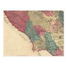 Postal Mapa del condado de Sonoma California
